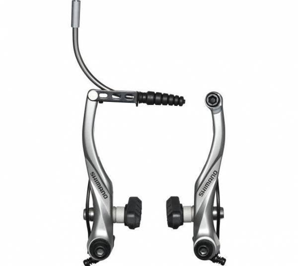 Brzda Alivo V-brake T4000 strieborná s vodiacou trubkou